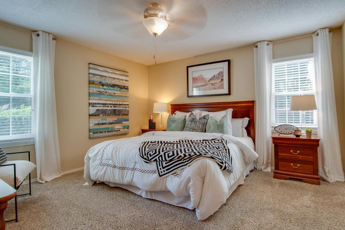 Master Bedroom at South Wind Apartment Homes In Franklin, TN