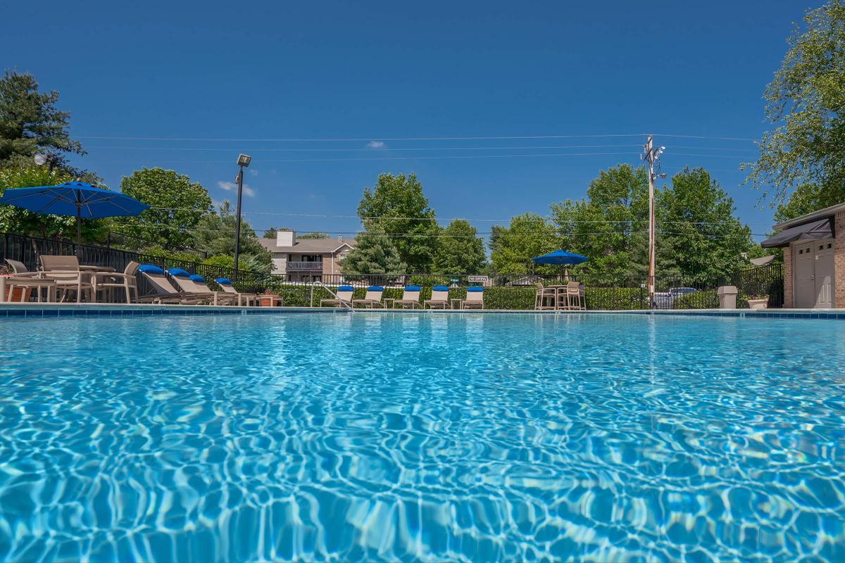 The Salt Water Swimming Pool at South Wind Apartment Homes