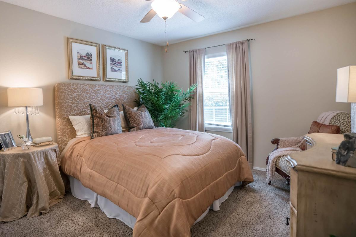 Ceiling Fan with light in Two bed Two Bath Floor Plan