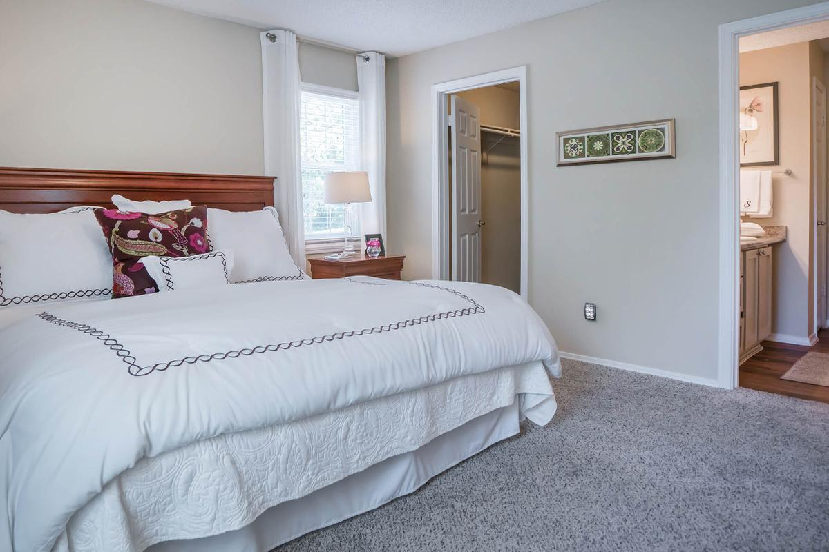 Master Bedroom in Two Bed Two Bath Apartments in Franklin, Tennessee