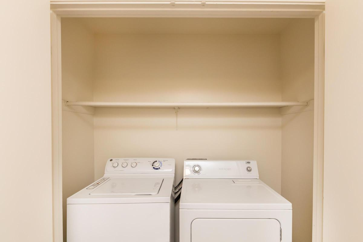 WASHER AND DRYER IN HOME AT UNIVERSITY VILLAGE AT WALKER ROAD