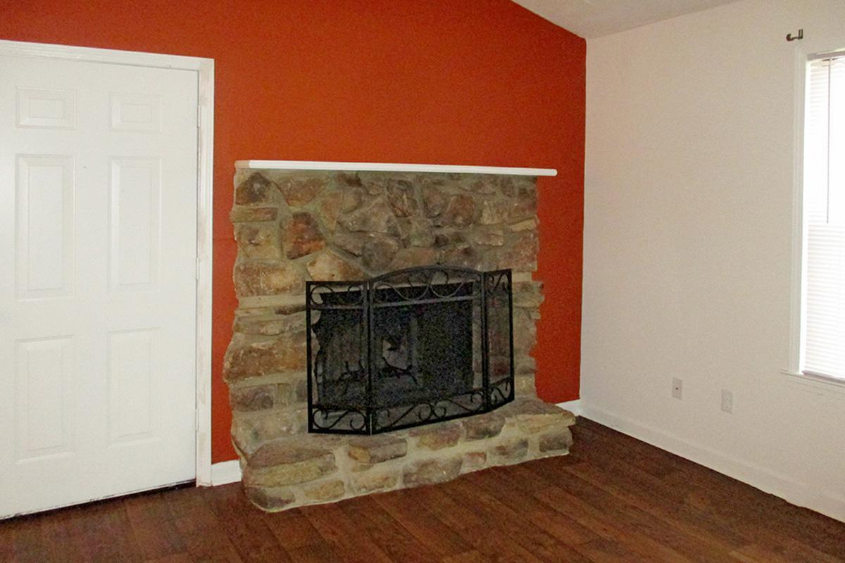 BEAUTIFUL WOOD BURNING FIREPLACE AT UNIVERSITY VILLAGE AT WALKER ROAD IN JACKSON, TENNESSEE