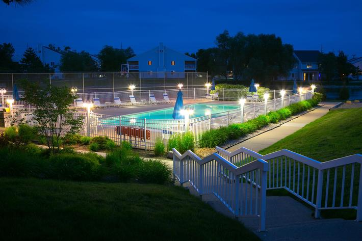 ArborLandings Ann Arbor, MI pool night.jpg
