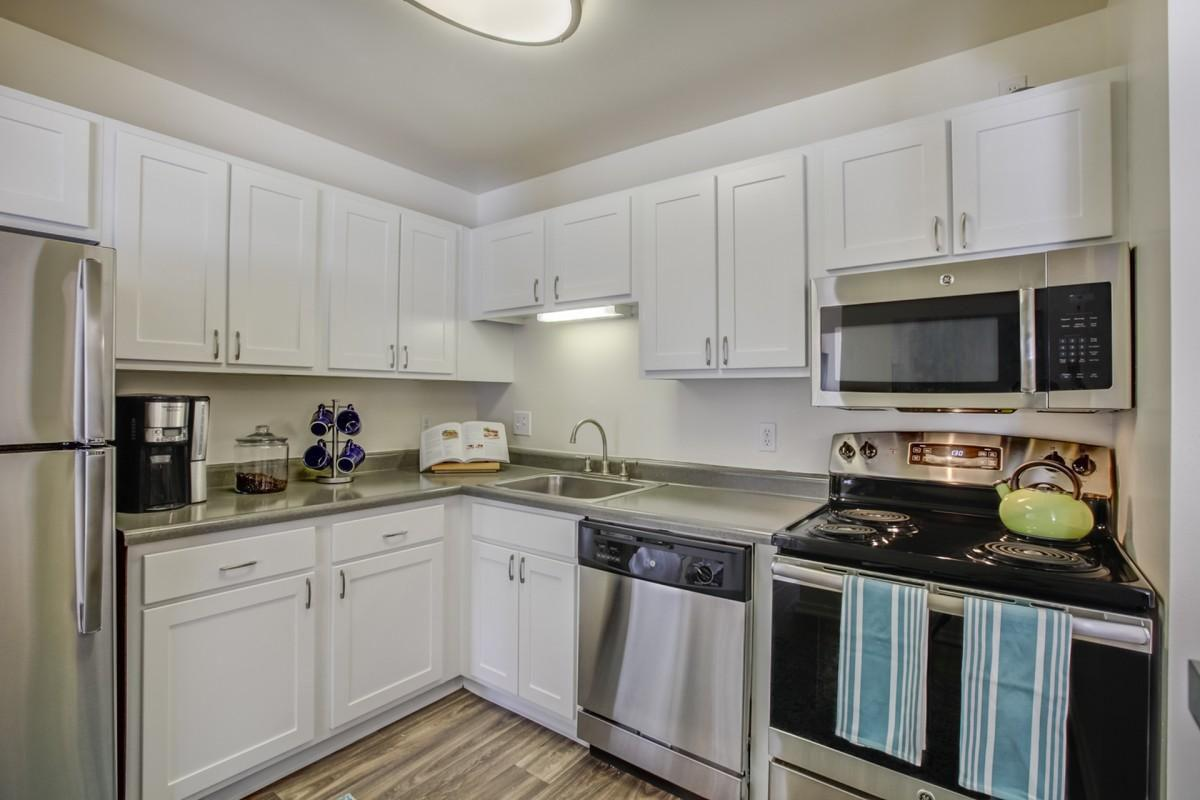 GAS OR ELECTRIC STOVE IN KITCHEN