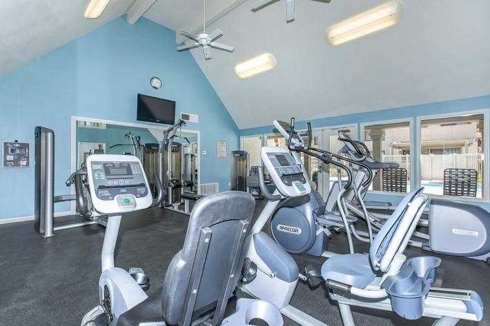 Work-out equipment in community gym