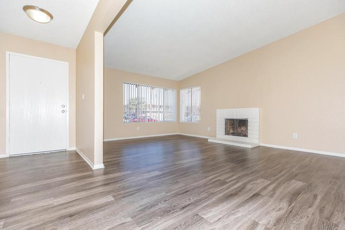 Living room with wooden floors