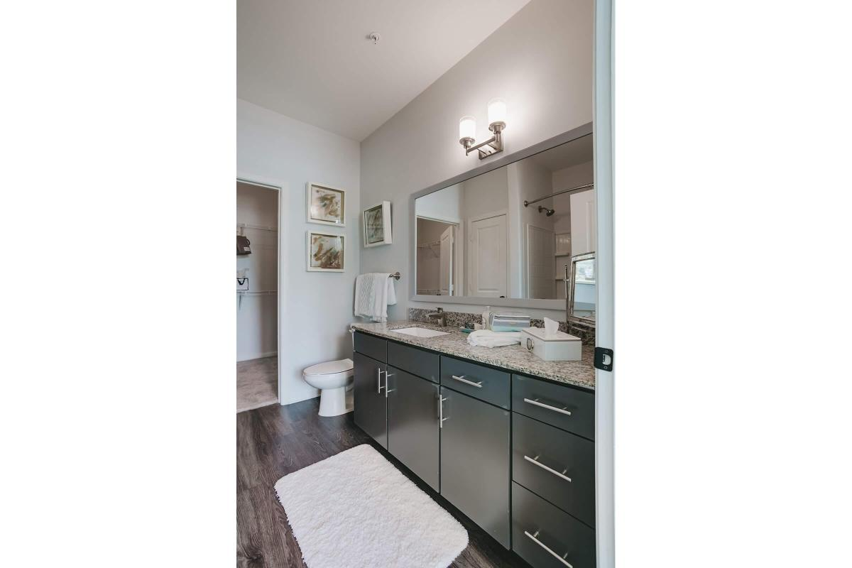 Sleek bathrooms at The Residence at Old Hickory Lake