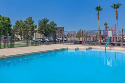 Your swimming pool at Las Brisas De Cheyenne Apartments