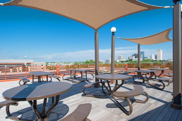 Seating Area on Rooftop Deck