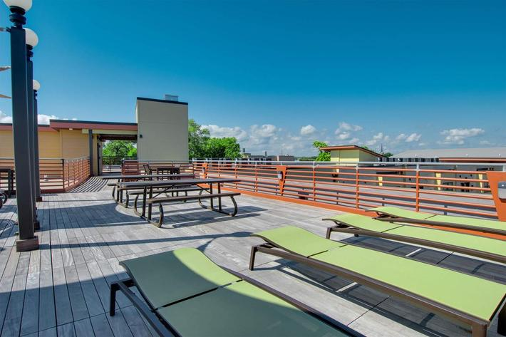 Seating on Rooftop Deck