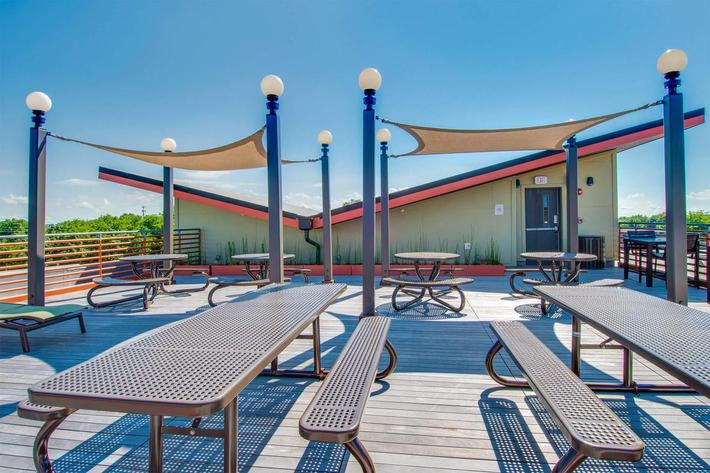 Shaded Rooftop Deck
