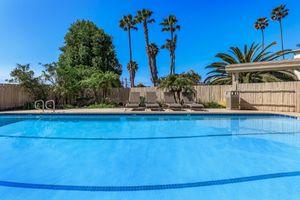 Shimmering swimming pool at Casa Del Norte