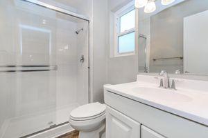 Sleek bathrooms at Casa Del Norte