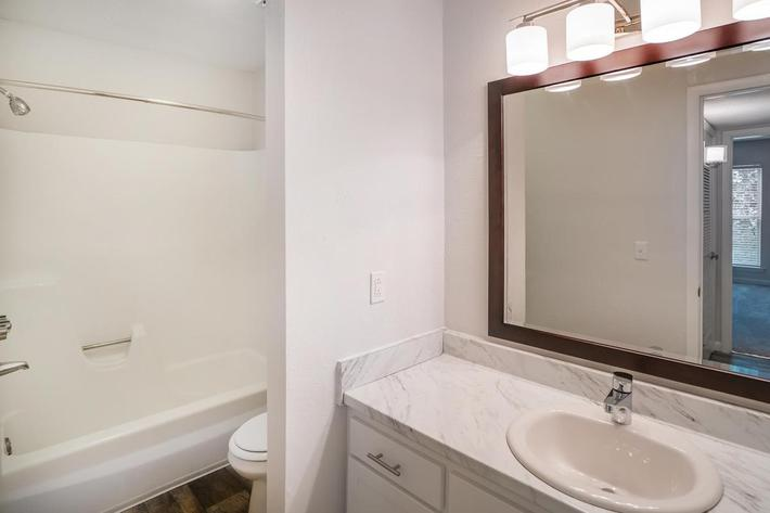 Spacious Bathroom at Chase Cove Apartments in Nashville, TN