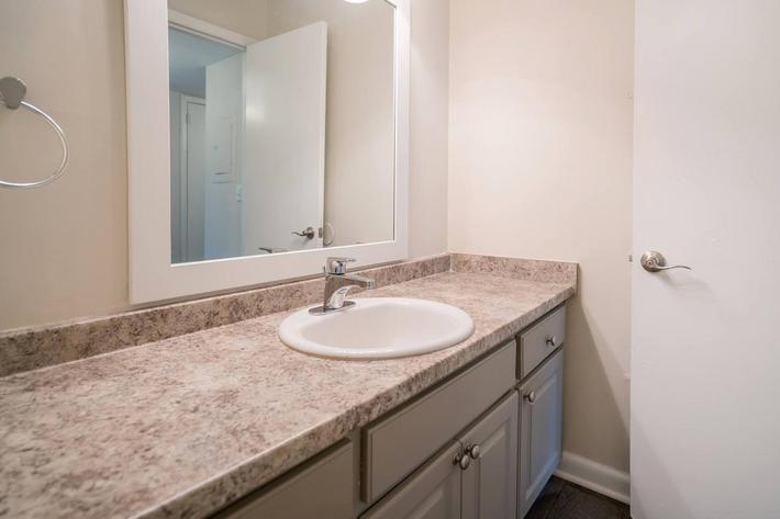 Spacious Bathroom Counters at Chase Cove Apartments in Nashville, TN