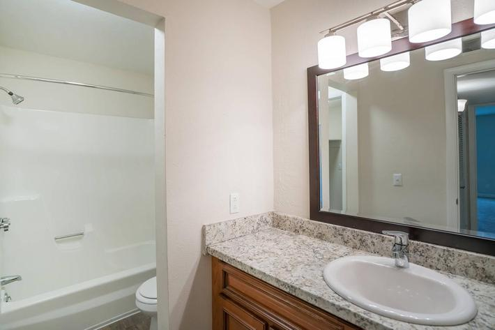 Modern Bathroom at Chase Cove Apartments in Nashville, TN