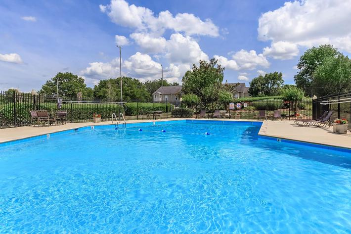 Shimmering Swimming Pool at Chase Cove Apartments in Nashville, TN