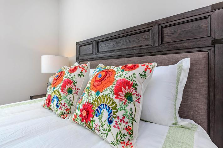 Cozy Bedroom in Riverstone Apartments At Long Shoals in Arden, NC