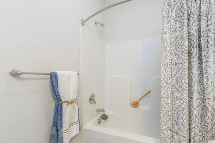 Spacious Bathrooms at Riverstone Apartments At Long Shoals in Arden, NC