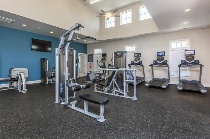 Get In Shape At Riverstone Apartments At Long Shoals In Arden, NC