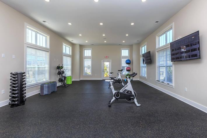 Magnificent State-of-the-art Fitness Center In Riverstone Apartments At Long Shoals in Arden, NC