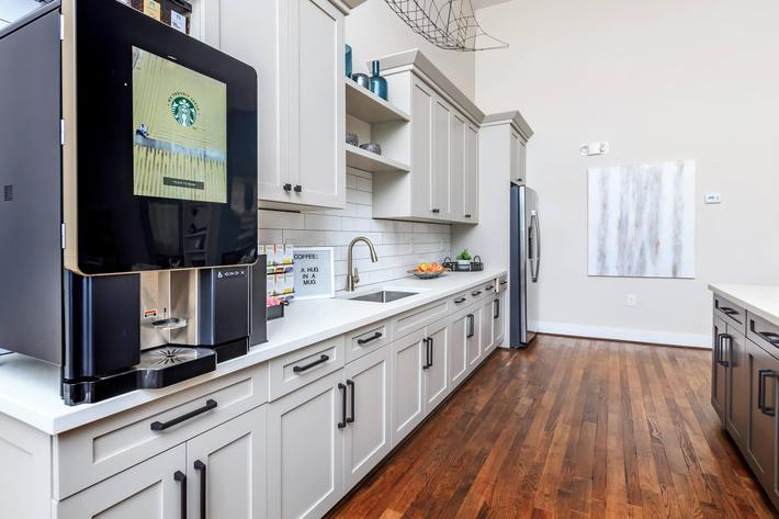 Start Your Morning With Gourmet Coffee At Riverstone Apartments At Long Shoals In Arden, NC