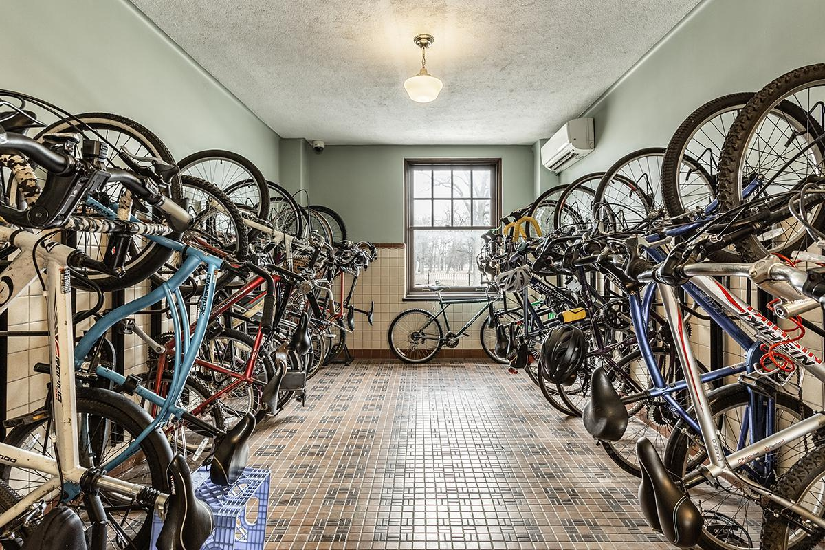 INDOOR BICYCLE STORAGE