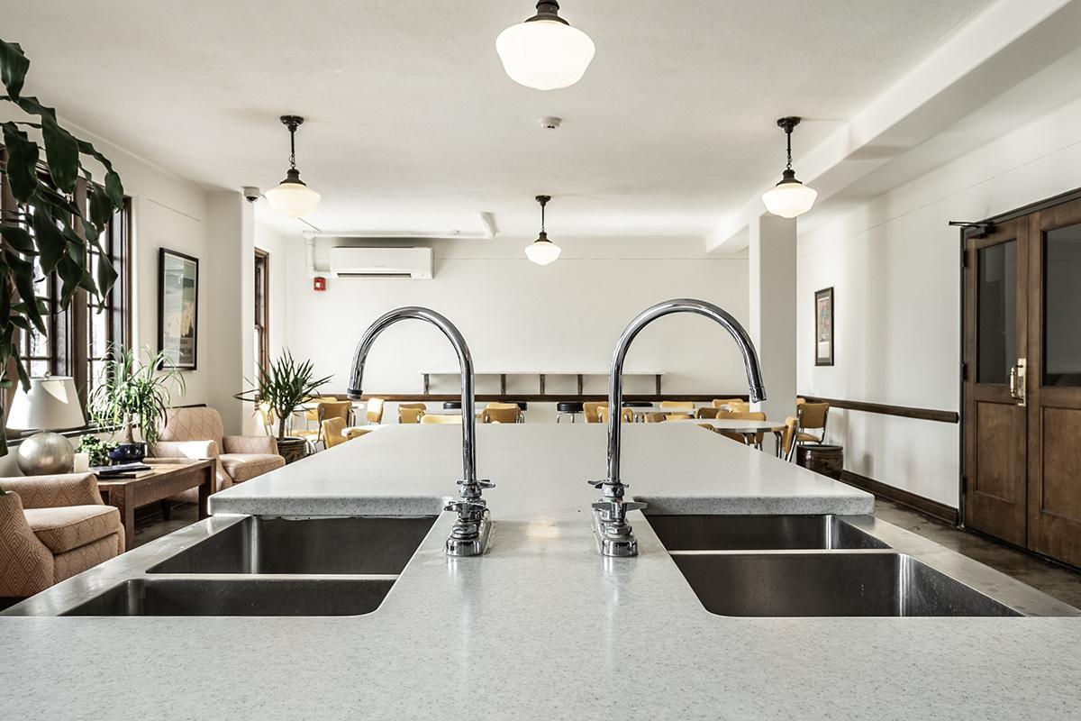 SHARED GOURMET KITCHEN WITH DUAL SINKS