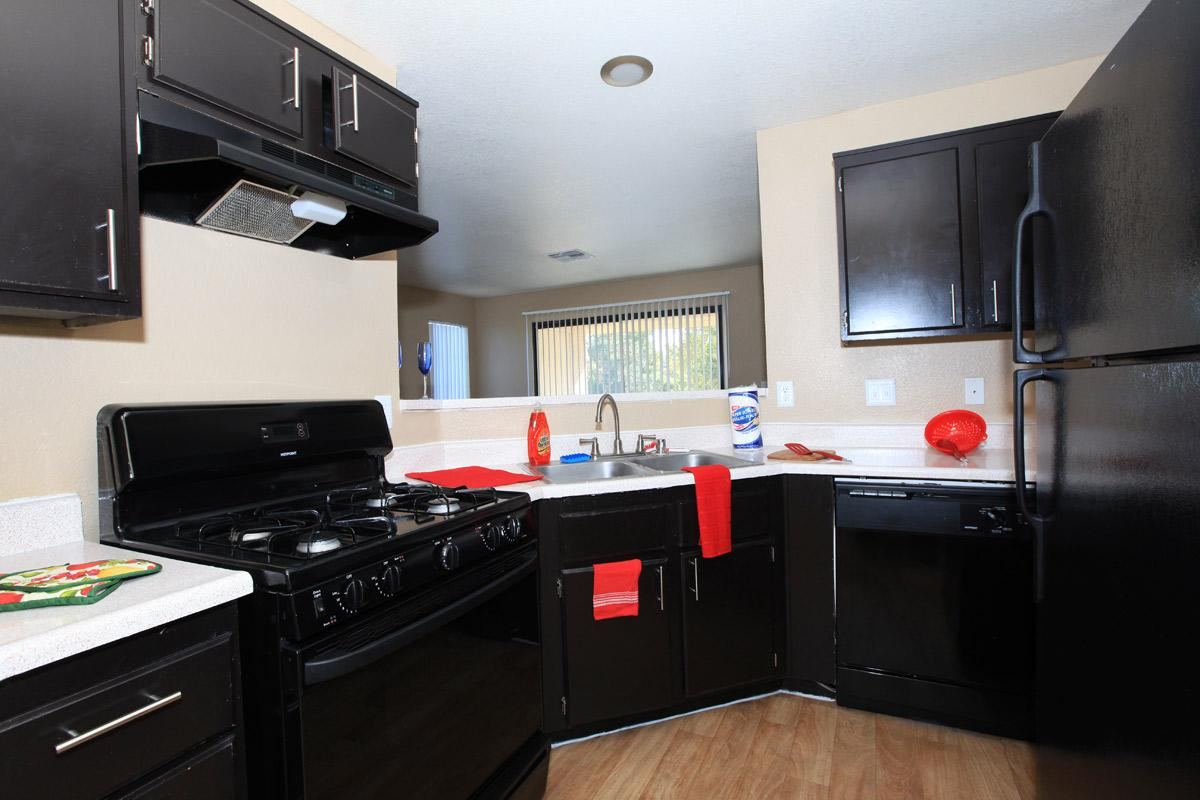 UPGRADED KITCHEN AT TOSCANA APARTMENT HOMES IN LAS VEGAS