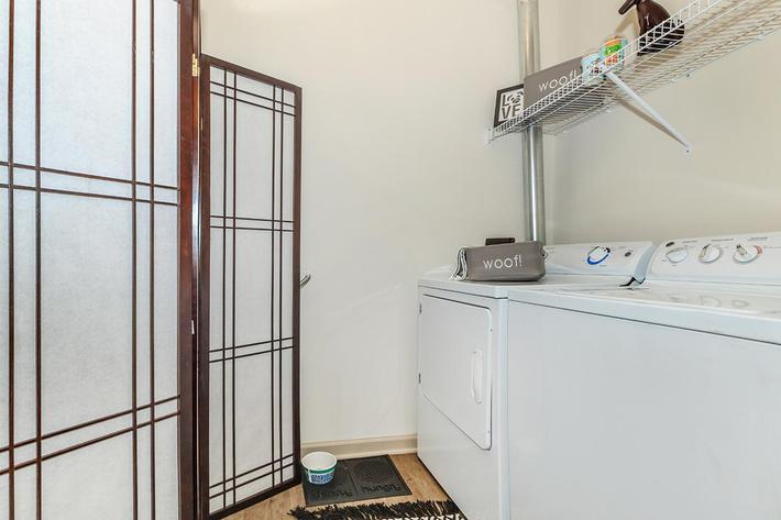 In-home Laundry area