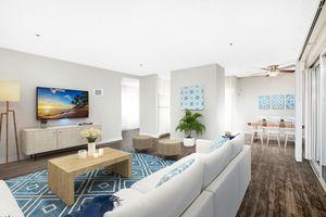 Open floor plans at Casa Del Hermosa in San Diego, CA