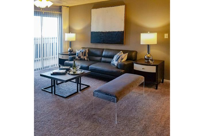 Comfortable living space at Gleneagle in Greenville, SC.