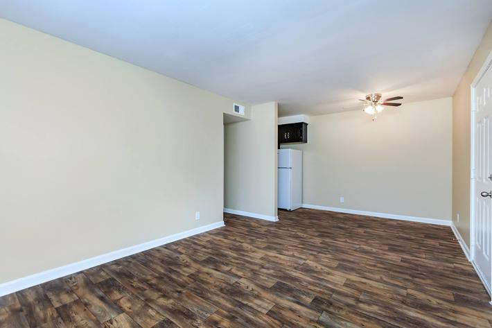 Beautiful flooring at The Residences at 1671 Campbell in Clarksville, TN