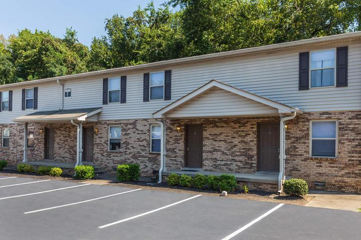 Ample parking at The Residences at 1671 Campbell in Clarksville, Tennessee