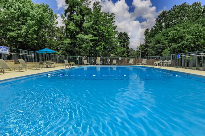 Enjoy the shimmering swimming pool