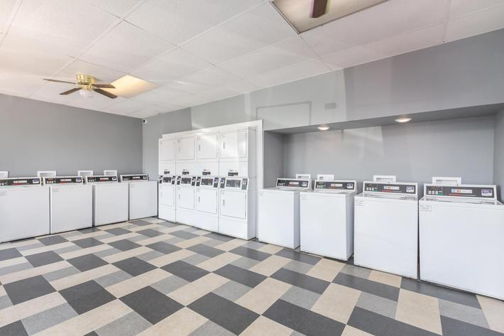 Laundry facility here at The Residences at 1671 Campbell in Clarksville, Tennessee