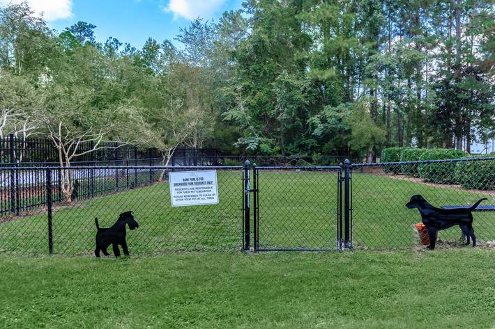 Come play at the dog park at Birchwood Park in Wilmington, North Carolina
