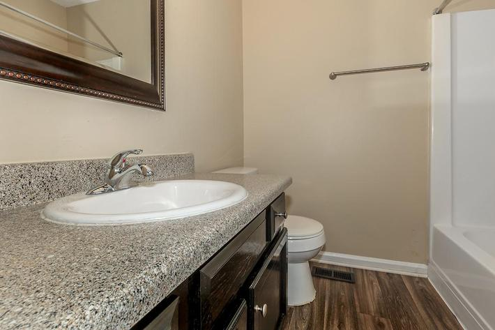 Bathroom at The Villages at Peachers Mill in Clarksville, TN