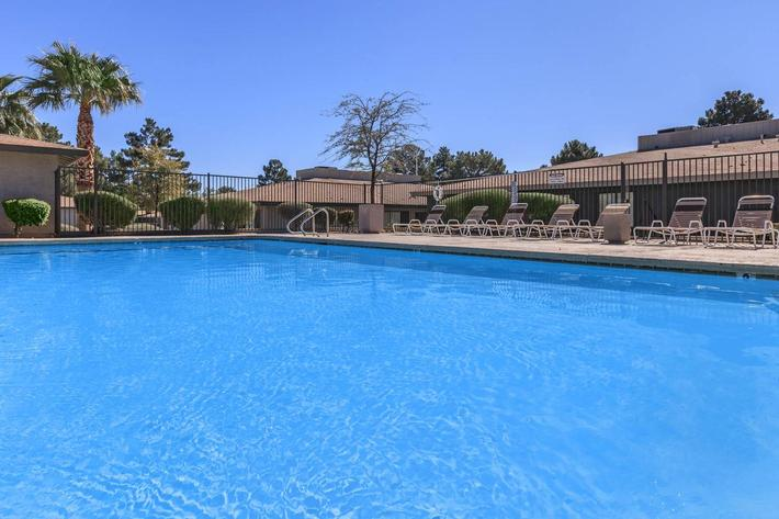 The Cottages features a pool
