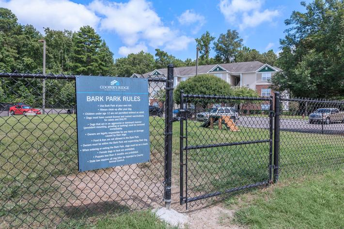 Discover Our Bark Park Here At Cooper's Ridge in Ladson, South Carolina