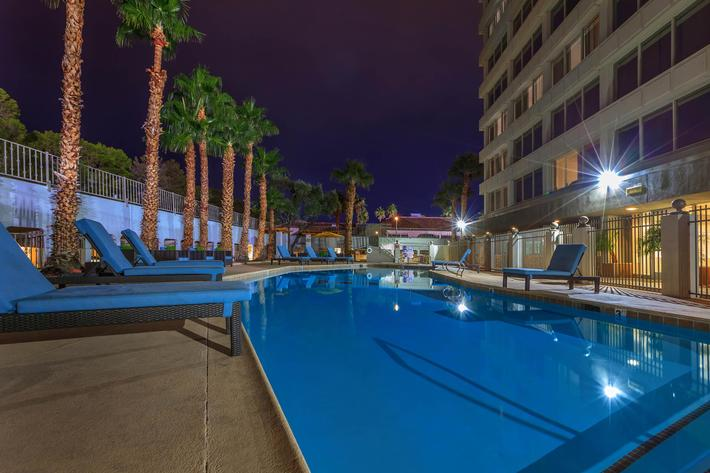 THE POOL AT MARK 1 APARTMENTS IN LAS VEGAS