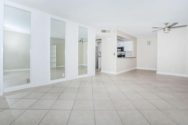 CEILING FANS AND TILE FLOORING AVAILABLE AT MARK 1 APARTMENTS IN LAS VEGAS