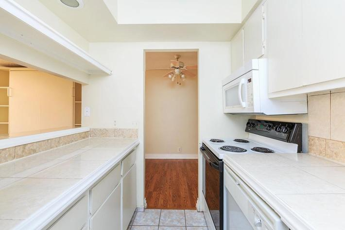 Fully equipped kitchen at Mark 1 Apartments