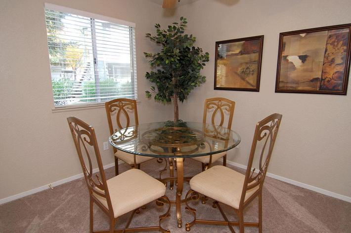 We have open dining rooms at Sierra Meadows