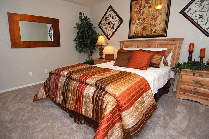 We have comfortable bedrooms at Sierra Meadows