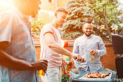 Happy Residents Enjoying a Barbecue