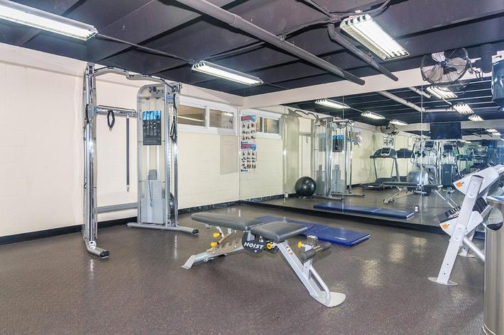 Fitness Center at The Barbizon Apartments