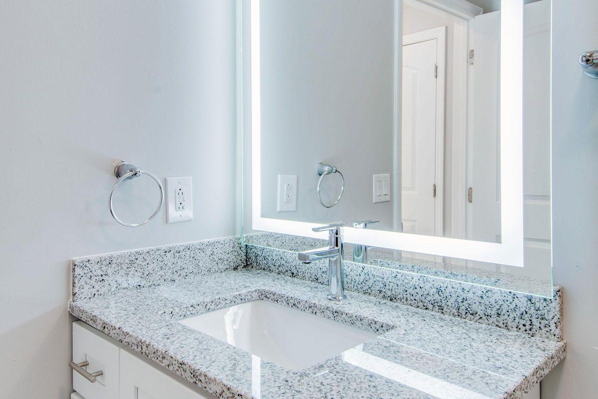 Lighted bathroom vanity