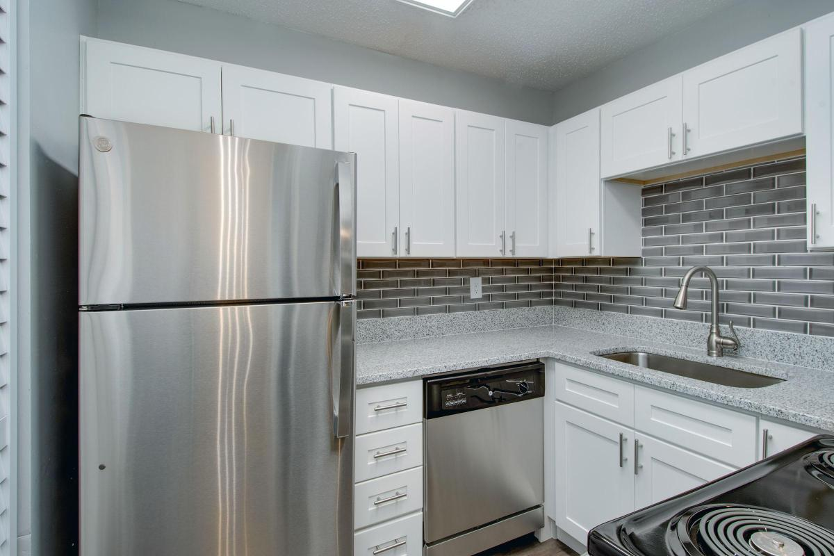 Updated kitchen with backsplash