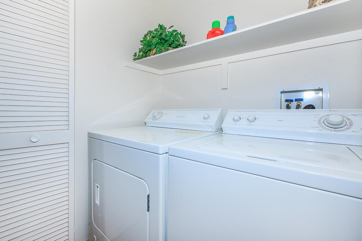 WASHER AND DRYER IN THE HOMES AT DESERT SKY IN LAS VEGAS